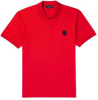 at Mr. Porter Alexander McQueen Zardozi-Appliqu�d Cotton-Piqu� Polo Shirt