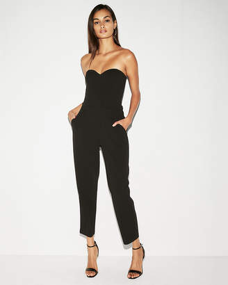 Express Strapless Sweetheart Neckline Jumpsuit
