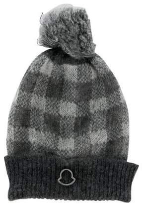 Moncler Pom-Pom Beanie Hat Grey Pom-Pom Beanie Hat