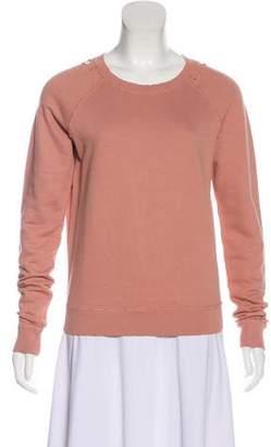 Amo Distressed Long Sleeve Sweatshirt