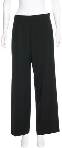ChanelChanel Wool Wide-Leg Pants