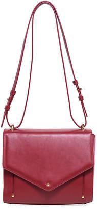 Sara Battaglia Linda Leather Plisse Crossbody Bag