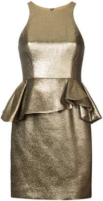 Halston peplum waist dress