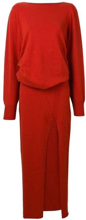 front-slit maxi dress