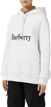Burberry Pelorus Archive Logo Embroidered Hoodie