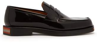Maison Margiela Cross Section Leather Penny Loafers - Mens - Black