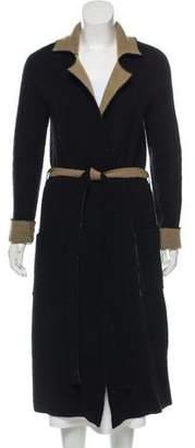 ATM Anthony Thomas Melillo Reversible Wool-Blend Knit Coat