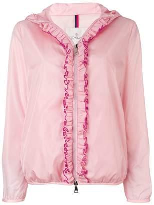 Moncler ruffled trim hooded jacket