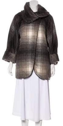 Waverly Grey Oversize Double-Breasted Jacket