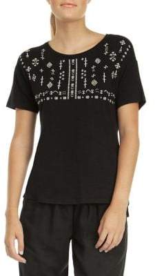 Dex Embroidered Beaded Tee