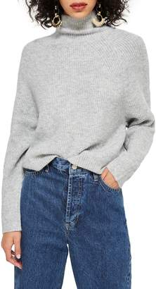Topshop Raglan Turtleneck Neck Sweater