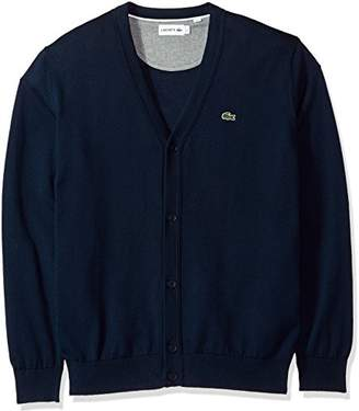 Lacoste Men's Long Sleeve Jersey Cardigan Sweater