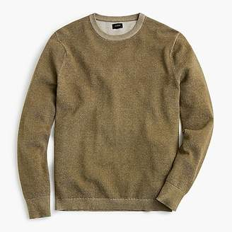 J.Crew Cotton plaited texture crew neck sweater