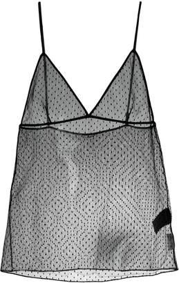 Saint Laurent polka dot mesh camisole