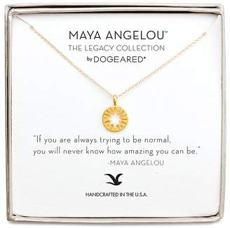 """Dogeared Maya Angelou Legacy Collection """"If You Are Aways Trying to Be Normal..."""" Necklace, 16"""""""