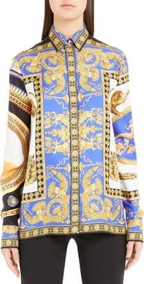 Versace Casa Print Silk Shirt