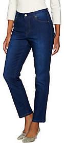 Isaac Mizrahi Live! TRUE DENIM Petite 5-PocketAnkle Jeans