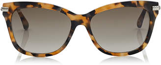 Jimmy Choo SHADE Havana Honey Cat-Eye Sunglasses with Snake Scale Texture Arms