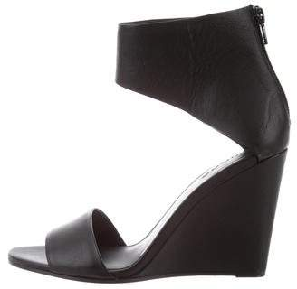 c4dd55bfbc7 Pre-Owned at TheRealReal · Vince Leather Ankle Strap Wedges