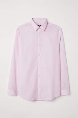 H&M Easy-iron Shirt Slim fit - Pink