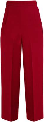 Roland Mouret Ward high-rise wool-crepe cropped trousers