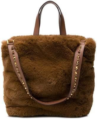 Ash fuzzy shoulder bag