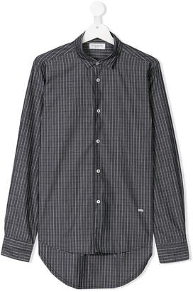 Paolo Pecora Kids TEEN checked shirt