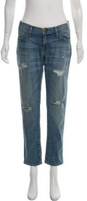 Current/Elliott Mid-Rise Cropped Jeans