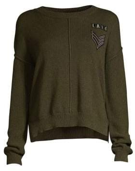 Rails Stafford Patch Cotton& Cashmere Sweater
