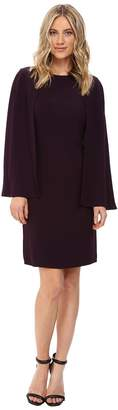 NUE by Shani Crepe Dress with Cape Detail Women's Dress