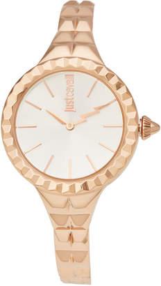 Just Cavalli JC1L002M0045 Rock Taffeta Rose Gold-Tone Watch