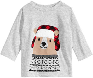 First Impressions Baby Boys Bear-Print T-Shirt, Created for Macy's