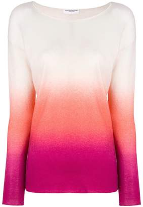 Majestic Filatures cashmere ombre knitted top