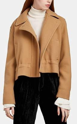 Chloé Women's Cinched-Waist Wool-Blend Jacket - Lt. brown
