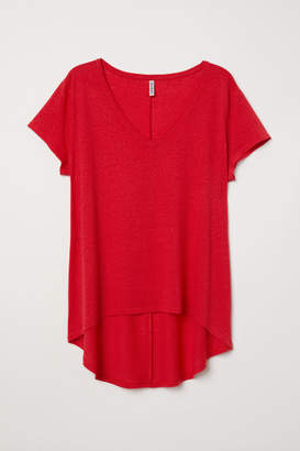H&M H&M+ V-neck Top - Red