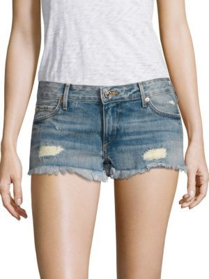 True Religion Joey Distressed Cutoffs $139 thestylecure.com