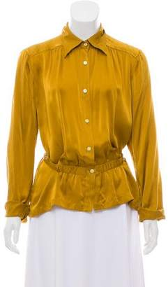 Dries Van Noten Silk Button Up Blouse