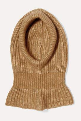 Chloé Ribbed Alpaca, Silk, Mohair And Merino Wool-blend Snood - Beige