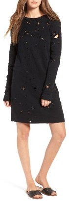 Women's Lna Destroyed Sweatshirt Dress $152 thestylecure.com