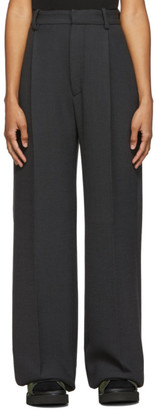 Plan C Grey Wide-Leg Trousers