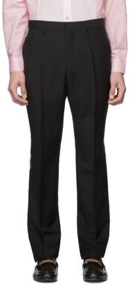 Burberry Black Side Tape Logo Trousers