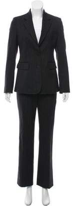Burberry Wool Striped Pantsuit