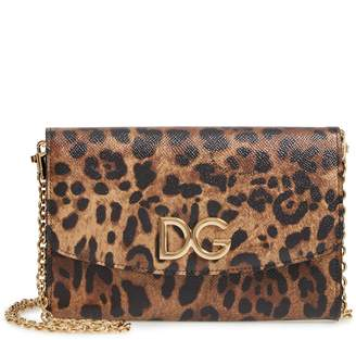 Dolce & Gabbana Leather Wallet on a Chain