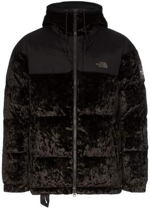 The North Face Black Label Nuptse velvet feather down hooded jacket