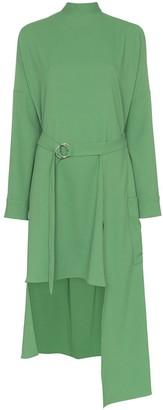 Tibi Chalky cut-out asymmetric midi-dress