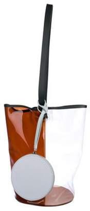 Building Block Vinyl Bucket Bag Clear Vinyl Bucket Bag