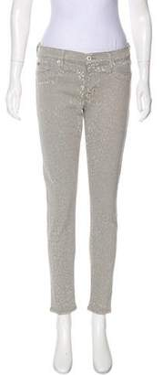 Hudson Mid-Rise Printed Jeans w/ Tags