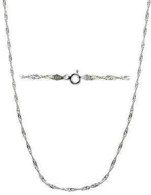 """Lord & Taylor Twisted Sterling Silver Chain Necklace/36"""""""
