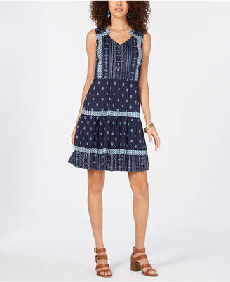 Style&Co. Style & Co Petite Printed Peasant Dress