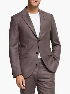 Wool Flannel Slim Fit Suit Jacket, Red